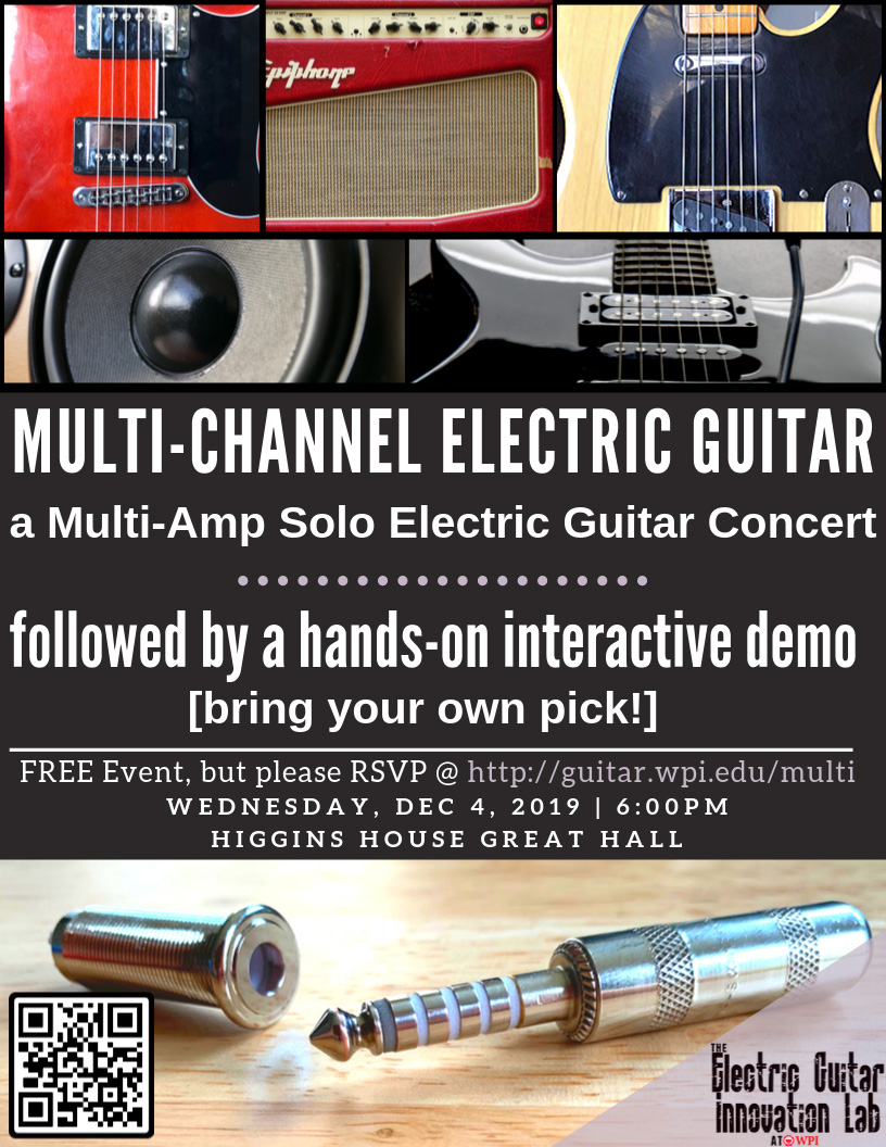 Multi-Channel Electric Guitar Concert Flyer