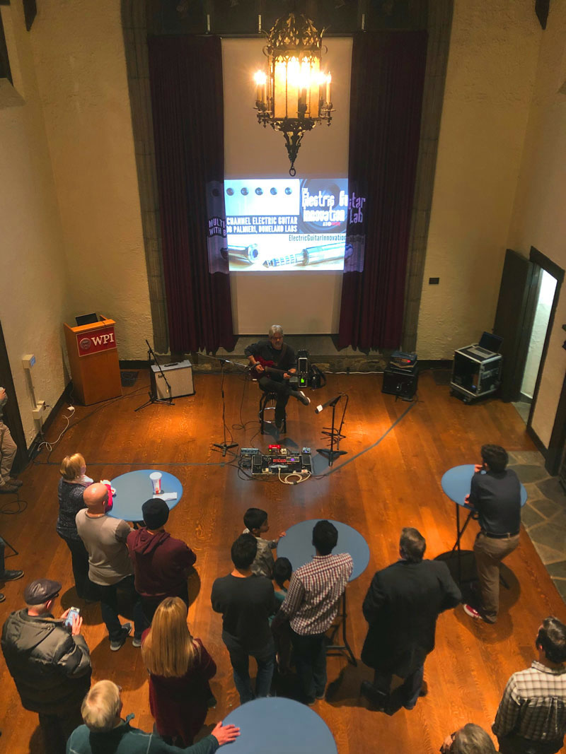 Multichannel Electric Guitar event at WPI 12-04-2019