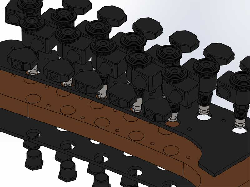 Parker Fly Headstock Exploded Assembly Render Bottom Askew